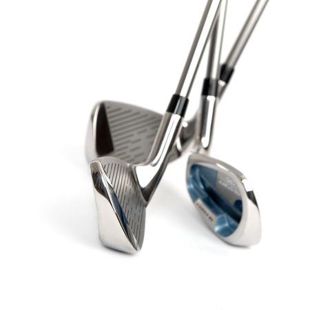 New golf clubs on white isolated background Фото со стока