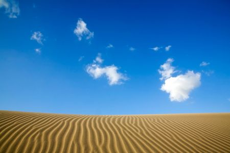 gran canaria: Maspalomas sand dunes in Gran Canaria, Spain Stock Photo