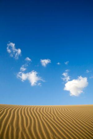 Maspalomas sand dunes in Gran Canaria, Spain Stock Photo - 2514986