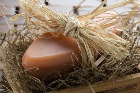 cleaness: Natural lavender soap, shallow focus Stock Photo