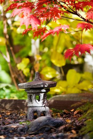 Japanese garden in beautiful autumn colors Stock Photo - 3621648