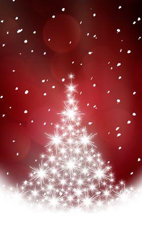 Christmas background with white snowflakes Stock Photo - 3771271