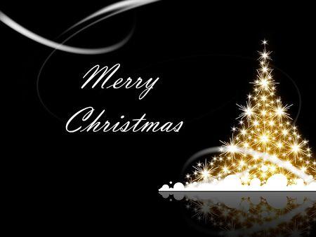 navidad elegante: �rbol de Navidad con saludos Feliz Navidad Foto de archivo