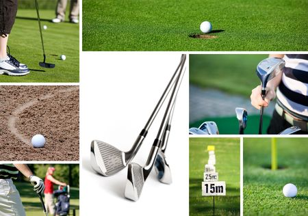Collection of golf related images Stock Photo - 4057511