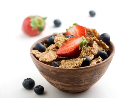 Breakfast cereal with healthy berries photo