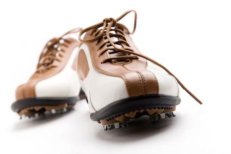 Buty Ladies Golf izolowane na białym Zdjęcie Seryjne