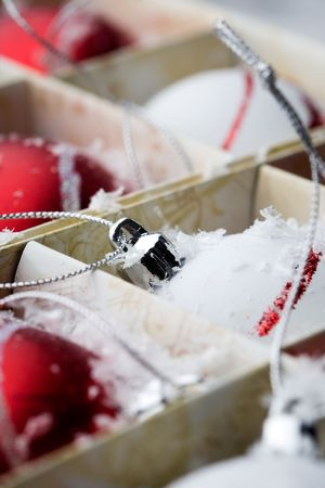 Red and white christmas decorations Stock Photo - 5826950