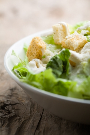 Ceasar salad with lots of dressing and parmesan Stock Photo - 6416452