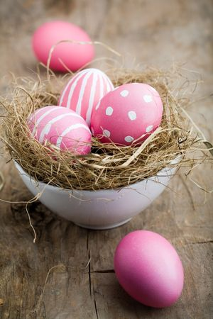 Painted easter egg in little bird nest Stock Photo - 6416461