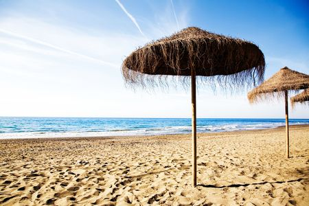 Empty beach in the beautiful sunny morning Stock Photo - 7004763