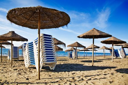 Empty beach in the beautiful sunny morning Stock Photo - 7004766