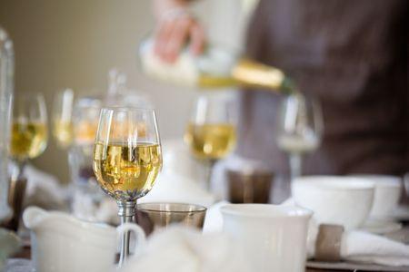 tea spoon: Elegant table setting for afternoon coffee or tea Stock Photo