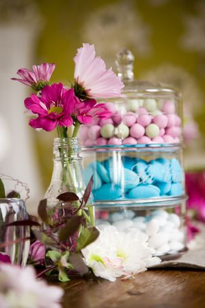 Table setting with lots of beautiful decoration