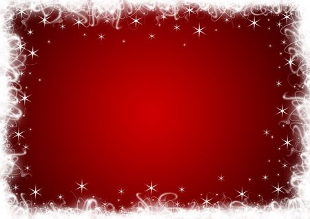 christmas backdrop: Red Christmas background with white stars and sparkles