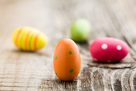 Colorful painted easter eggs with shallow focus Stock Photo - 8597071