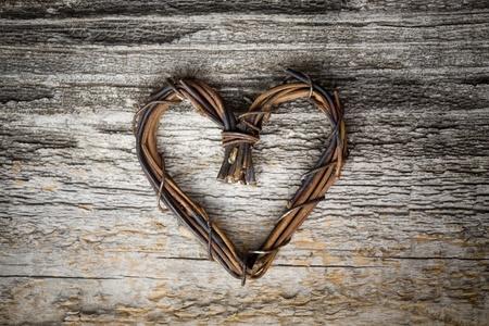 Close-up van hart gemaakt van willow
