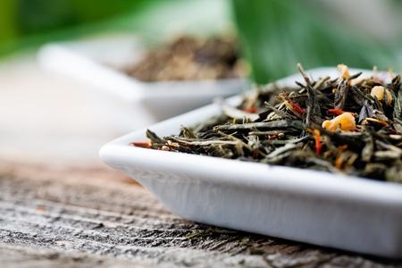 Chinois th� vert en verre Banque d'images