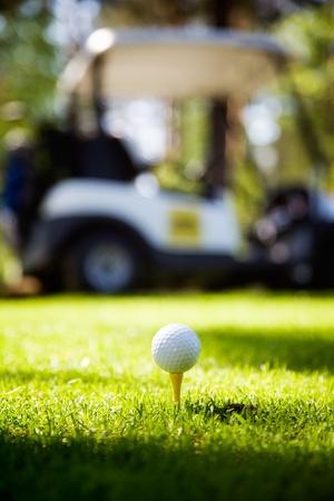 Balle de golf sur t�