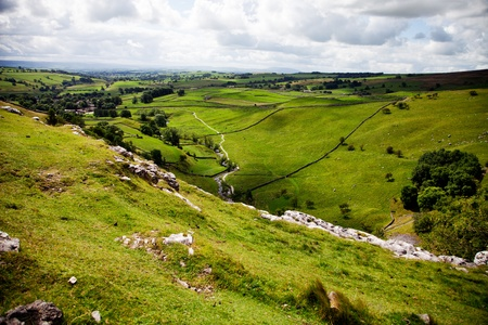 Beautiful landscape in Yorkshire Dales National Park in England photo