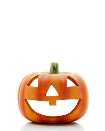 Orange halloween pumpkin isolated on white background Stock Photo - 14960857