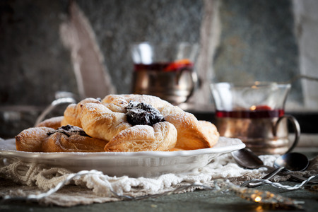 Joulutorttu, traditional finnish christmas pastry