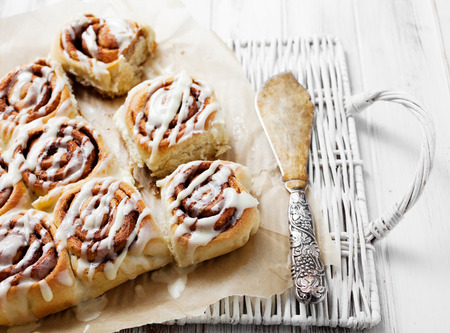cinnamon swirl: Cinnamon rolls with cream cheese icing
