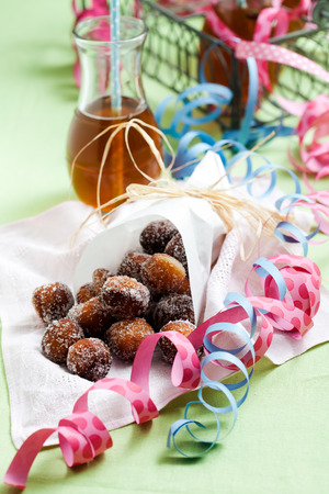 first day: Finnish traditional Vappu food, sugar donuts with sima