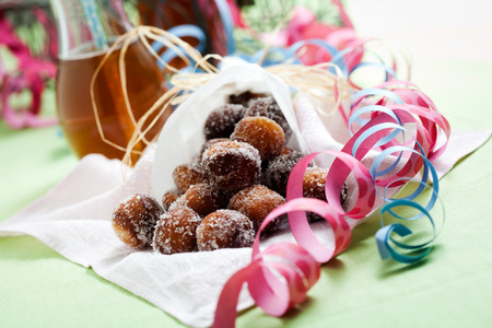 Finnish traditional Vappu food, sugar donuts with sima Stock fotó - 39663346
