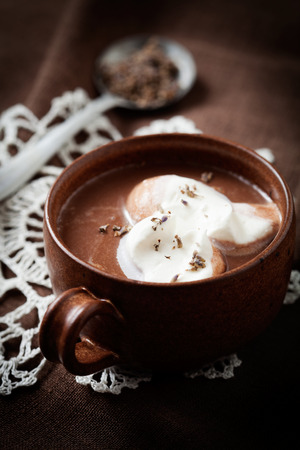 hint: Hot chocolate with a hint of lavender