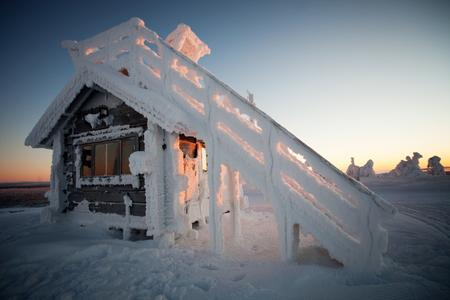 winter finland: Cold winter in Lapland Finland