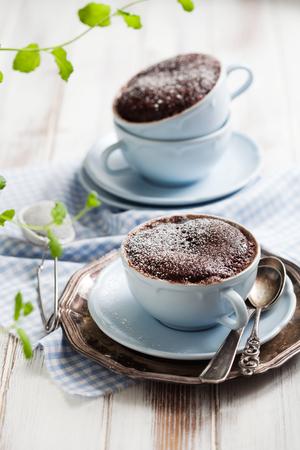 Chocolate cake in a coffee mug Stock fotó - 53965806