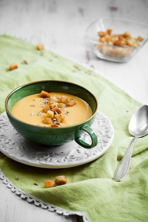 Creamy sweet potato and coconut soup