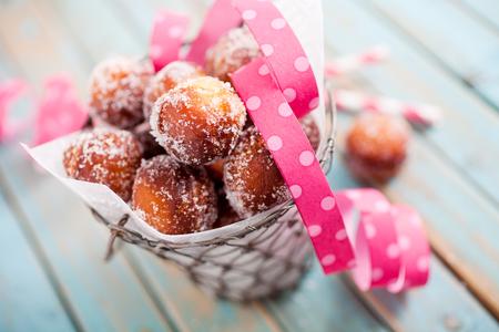 Finnish sugar donuts for Vappu celebration Archivio Fotografico