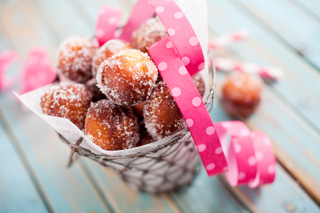 Finnish sugar donuts for Vappu celebration Stock Photo