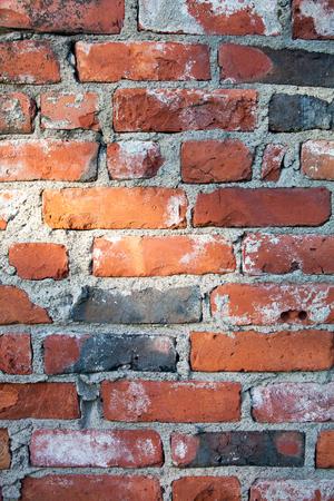Brickwall texture in orange and grey