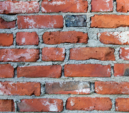 Brickwall texture in orange and grey