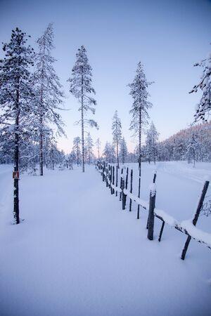 Winter in Lapland Finland Stock fotó