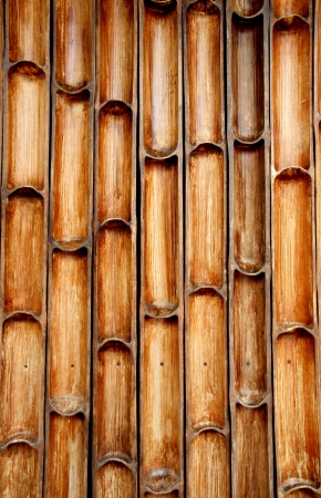 Bamboo wall with natural patterns Stock Photo