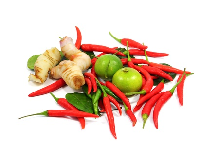 Thai food ingredient isolated on white background Stock Photo