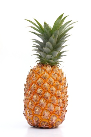 Ripe pineapple isolated on white background Stock Photo