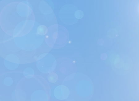Blue abstract background with soft bubble shape
