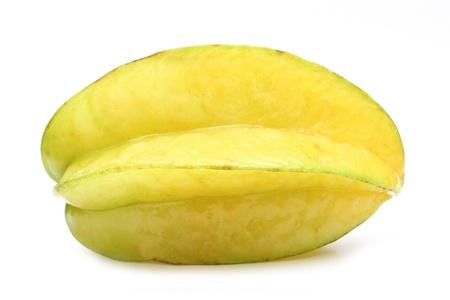 Close up carambola  Star fruit  isolated on white background