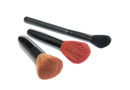 Set of make up brush isolated on white background  Stock Photo - 21922830