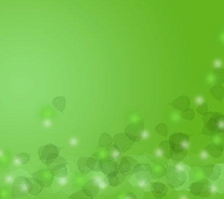 Leaf on green abstract background Stock Photo