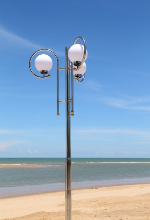 Streetlamp with blue sky