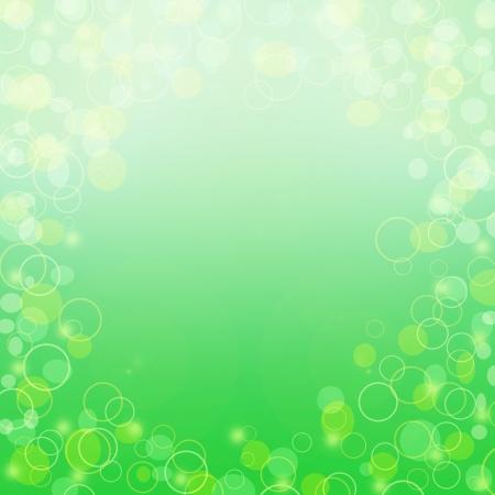 Abstract green and yellow circle