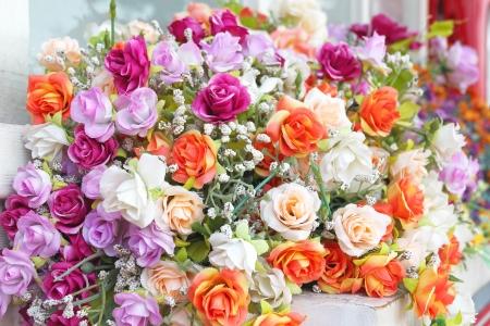 Close up bouquet of rose flowers decoration