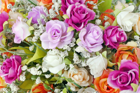 Close up bouquet of rose flowers background