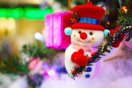 Santa claus and christmas decoration background