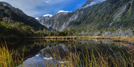 franz josef: Peters estanque en la regi�n Franz Josef Glacier Foto de archivo
